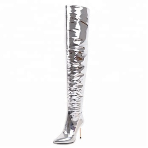 Sexy Thin High Heel Over-the-knee High Boots for Women Pointed Zipper Lady Fashion Shoes