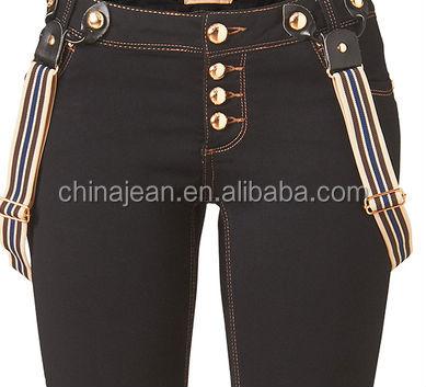 27b276b27a 2015 nuevas señoras grandes tamaño overoles pantalones tirantes Denim jeans  Mujer lápiz pantalones ...