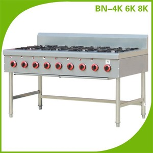 Commercial Kitchen Cooking Equipment Gas Range BN-8K