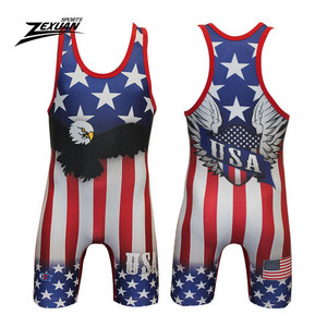 260c6422c21a American Flag Wrestling Singlet