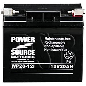 51913, UT51913, 12V20P, 51913-FS, BCP18-12, BCP18-12-BS, YUAM2219A, 51814, YT19BL-BS, YUAM6219BL Replacement Battery 325cca High Performance WP20-12i Sealed AGM for BMW Motorcycle GEL Battery