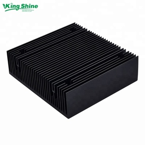 cold forging radiator 150w led heatsink black color pin fin heat sink