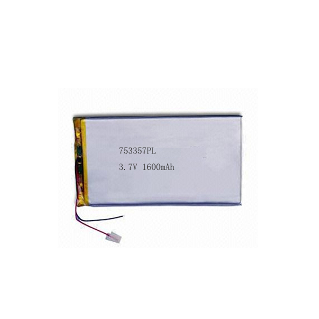 3.7V 753357PL Li-polymer battery for interphone and heart pacemaker