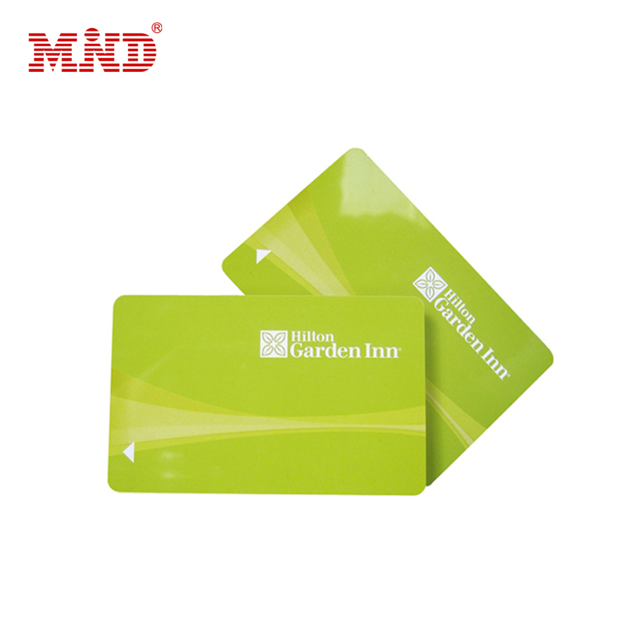 Customized glossy HF 13.56mhz Ultralight EV1 plastic hotel key card