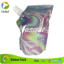 stand up reusable food spout OEM pouch bag/ziplock reusable drink pouch with spout packaging/liquid stand up pouch