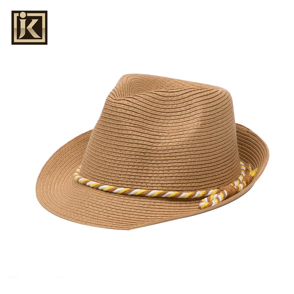 JAKIJAYI marca dos homens de Alta qualidade chapéu de palha novo estilo  handmade fita homem do 62da282725e