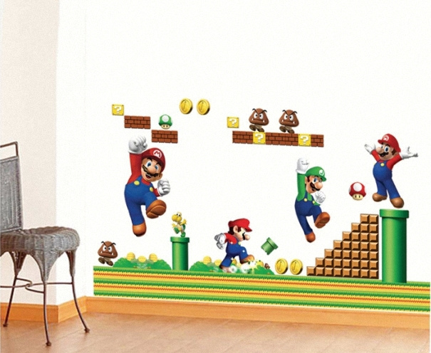 Bedroom Parlor Wall Stickers Home Decoration super Mario can be removed of Stickers Art 50cm*70cm Wall Stickers Mural-072