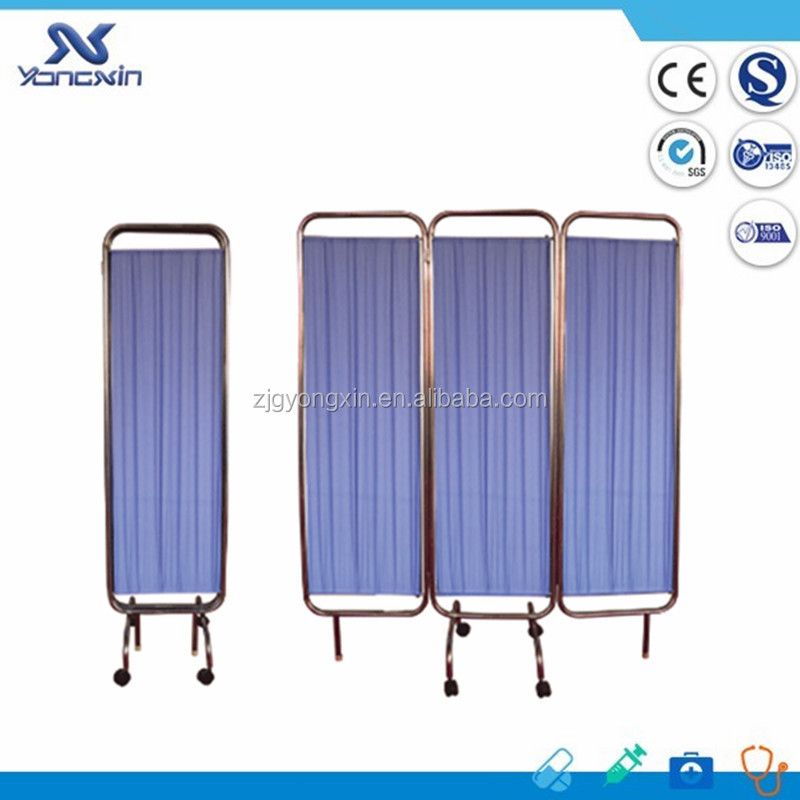 High Quality Stainless Steel Hospital Bed Screen curtain/ward folding screen
