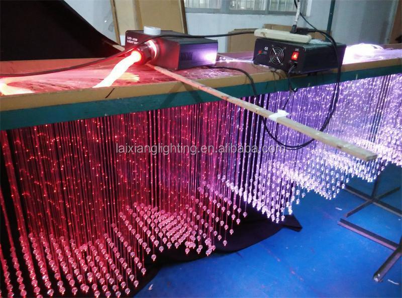 Fiber Optic Ceiling Wave Light Customize Design And