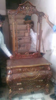 Indian wooden hand carved beautiful console table