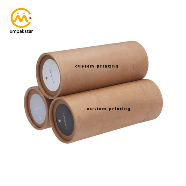 Factory bulk buy cheap custom recycle cardboard round Kraft paper t-shirts scarf packaging box