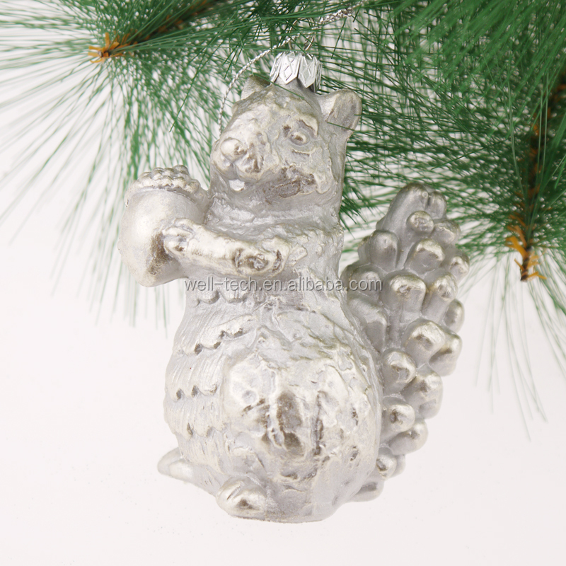 "4,5 ""Christmas Blow-Mould Squirrel ornament Ornamento da árvore de natal enfeites"