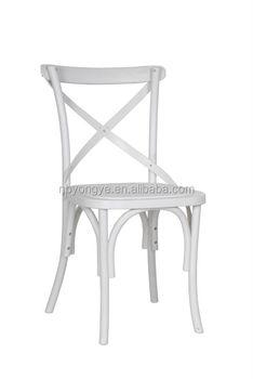 Marvelous Cixi Yongye PP Rental Party Wedding Plastic Resin Cross Back Chair