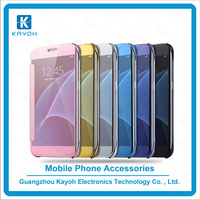 [kayoh] Hot selling mobile cover electroplating mirror flip case for samsung galaxy s7/s7 edge