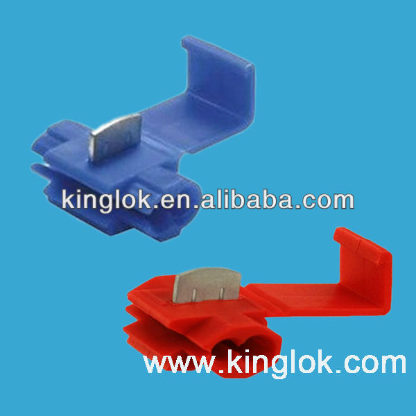 Blue , Red And Yellow quick quick splice terminal PCB Terminals Quick Splice Scotch Snap Lock Wire Connectors