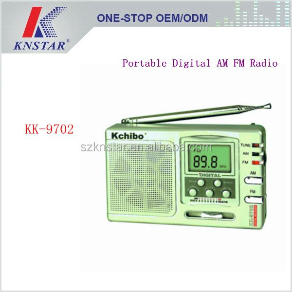 KK-9702 High sensitive for tour/school/training portable mini pocket digital am fm radio