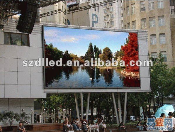 multi-media 32*16 dots virtual/static/real pixel p10/p16 outdoor advertising led full color display/led/led sign
