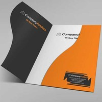 Customized a4 paper presentation folder with card slot