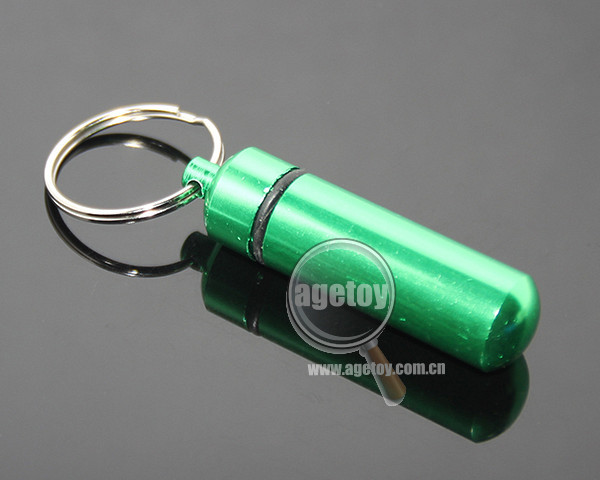 New High Quality Portable Waterproof Mini Keychain Tablet Storage Box Bottle Case Wholesale Aluminium Metal Pill Box
