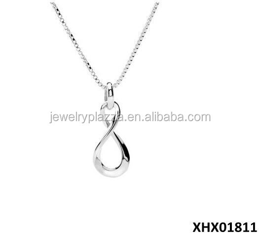 Sterling Silver Infinity Jewelry Simple Design Infinity Necklace