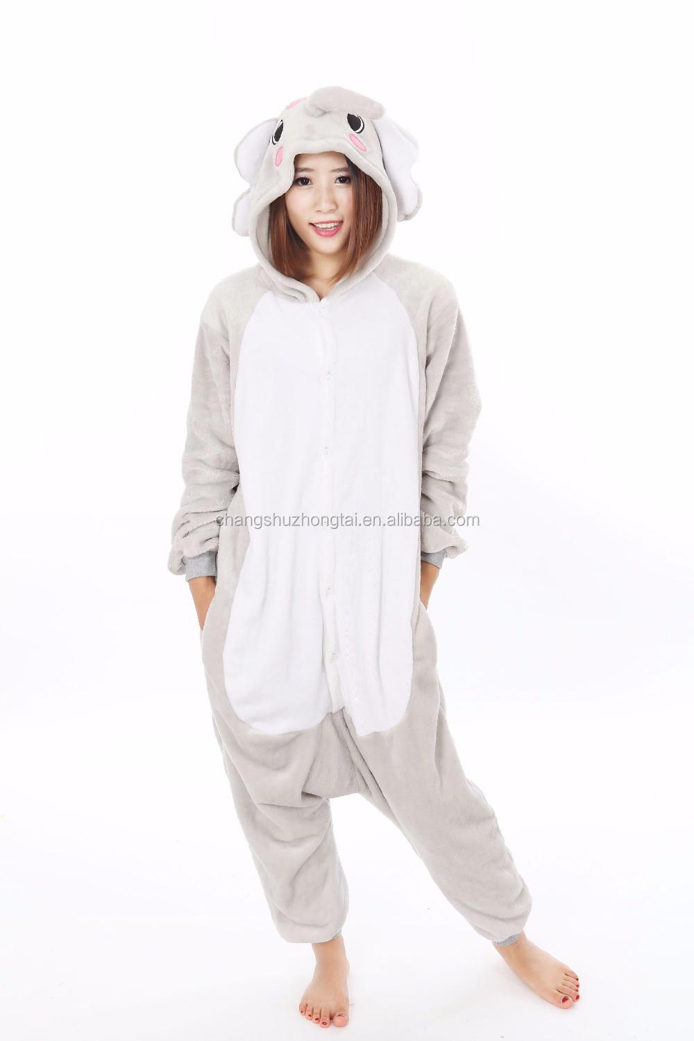 5a28eb5af3a7 Hot Sell Flannel Grey Anime Elephant Onesie For Adults - Buy Grey ...