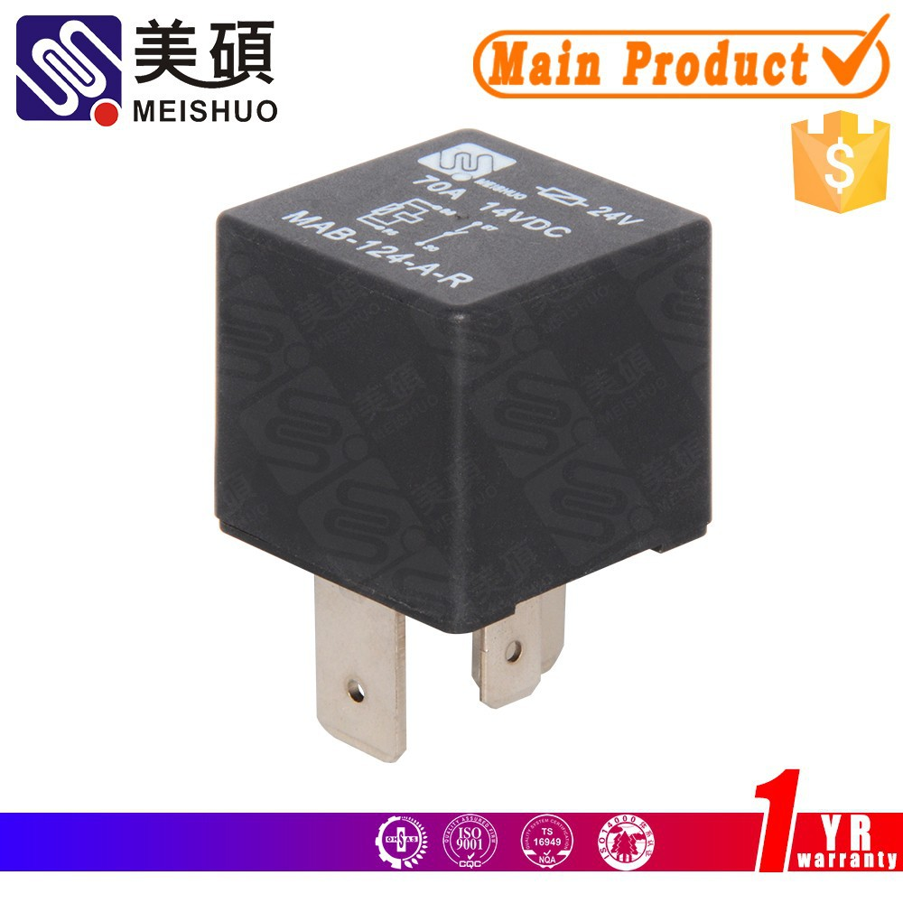 MEISHUO MAB 70a 5pin 4pin 12v 24v car relay truck relay auto relay