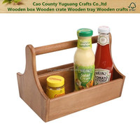 Wooden Condiment Holder, cookroom wooden spice bottle basket, kitchen wooden packaging bucket