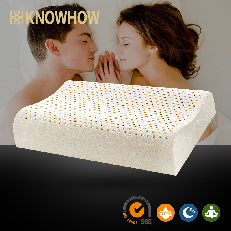 Thailand Manufacture for cooling foam gel latex wave Travel neck Bath pillow