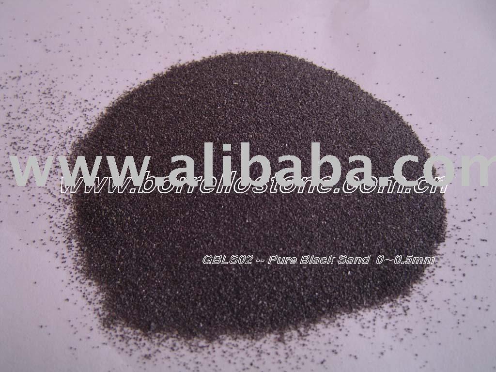 black sand and black gravel