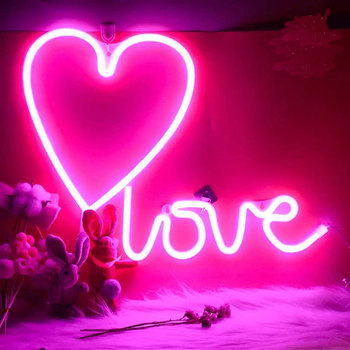 hot sale tube light led heart love shape decorative christmas lights
