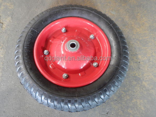 Pneumatic wheels steel centre for wheel barrow