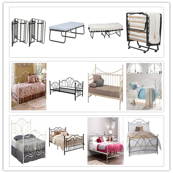 Hotsale Cheap Antique Metal Poster Bed Frame in Brushed Bronze Finish