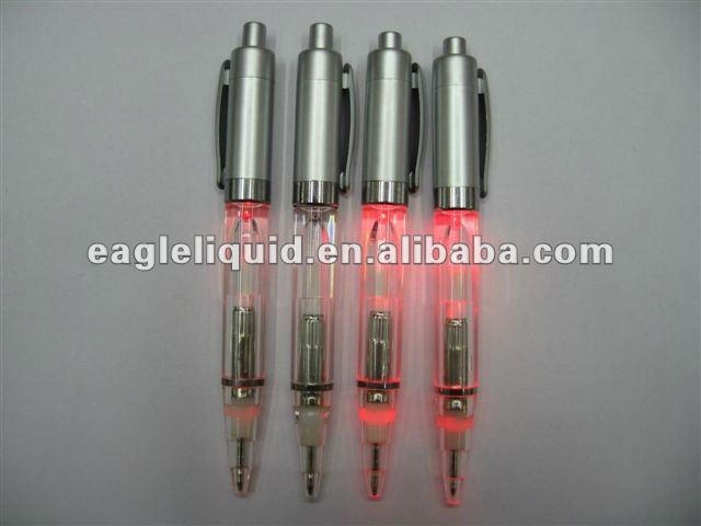 best selling red light flash floaters liquid LED metal pen
