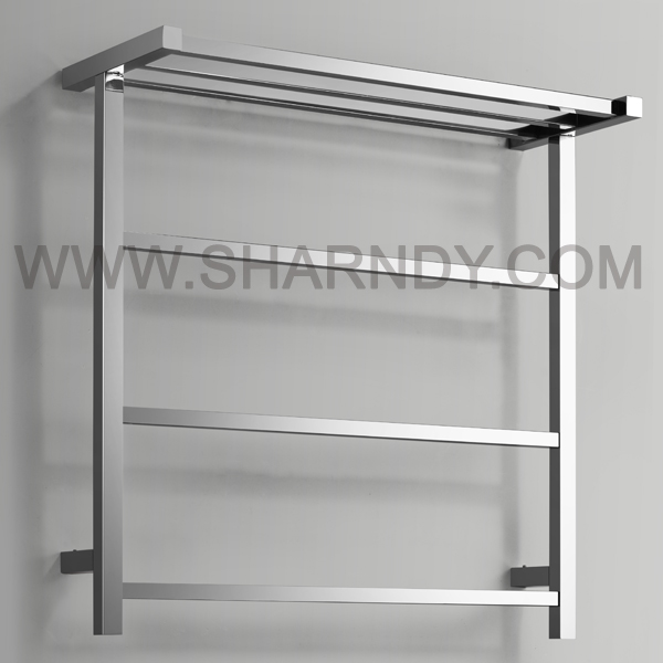 SHARNDY Stainless Steel Polished Bathroom Heated Towel Rails Towel Radiator Clothes rack with CE mark
