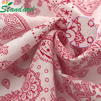 wholesale 83gsm 100% Cotton compact combed yarn reactive printed muslin voile fabric for women kerchief