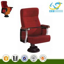 Luxury single leg theater & auditorium chairs church chair parts