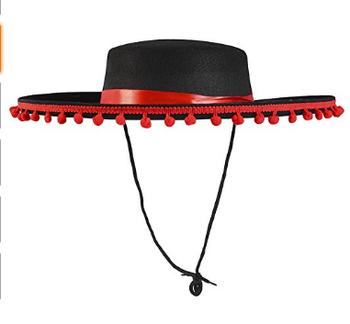 Nero Rosso Matador Toro Spagnolo Fighting Costume Cappello - Buy ... 70c61dc31ac8