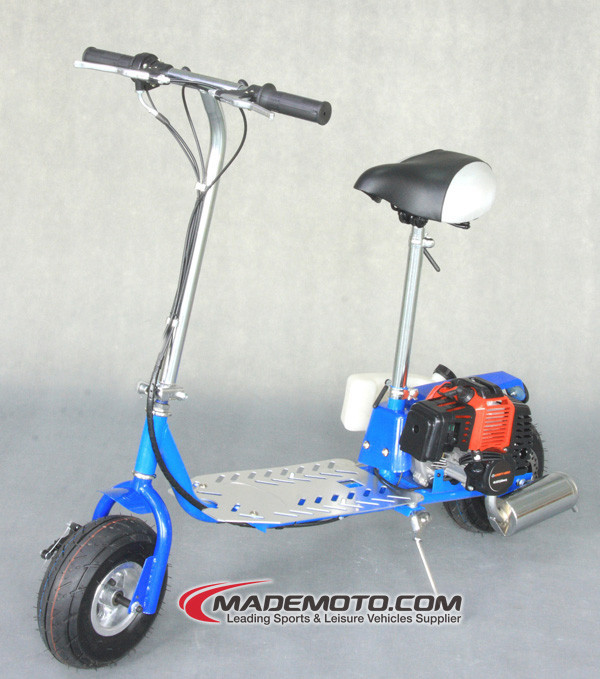 Gas Powered Engine Single Cylinder 2 Stroke 43CC Gas Scooter for Sale