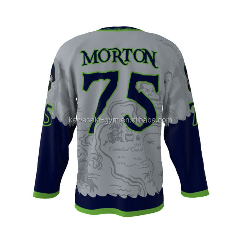 sell well custom sublimation durable fabric long sleeve ice hockey jersey