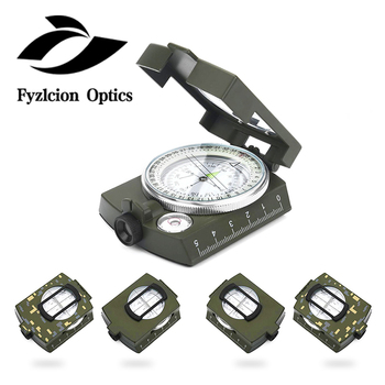 K4580 army compass,Camping Survival Compass Military Sighting Luminous Lensatic Waterproof Compass