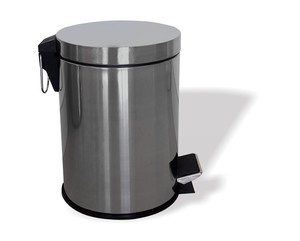 Household Standing Stainless Steel Dustbin With Pedal 3L Round Metal Waste Bin Kitchen Use Trash Bin Garbage Can