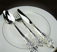 Classic technology stainless steel cutlery set flatware set OEM italian cutlery