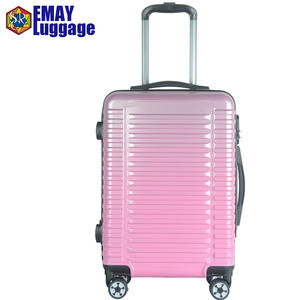 Bright Color abs pc High Glossy Travel Branded Trolley Luggage