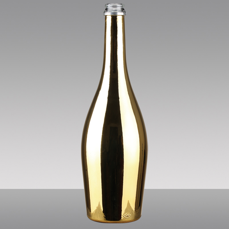 750ml Gold Wine Electroplated Champagne Wine Bottle