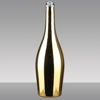 750ml Gold Wine Electroplated Champagne Bottle