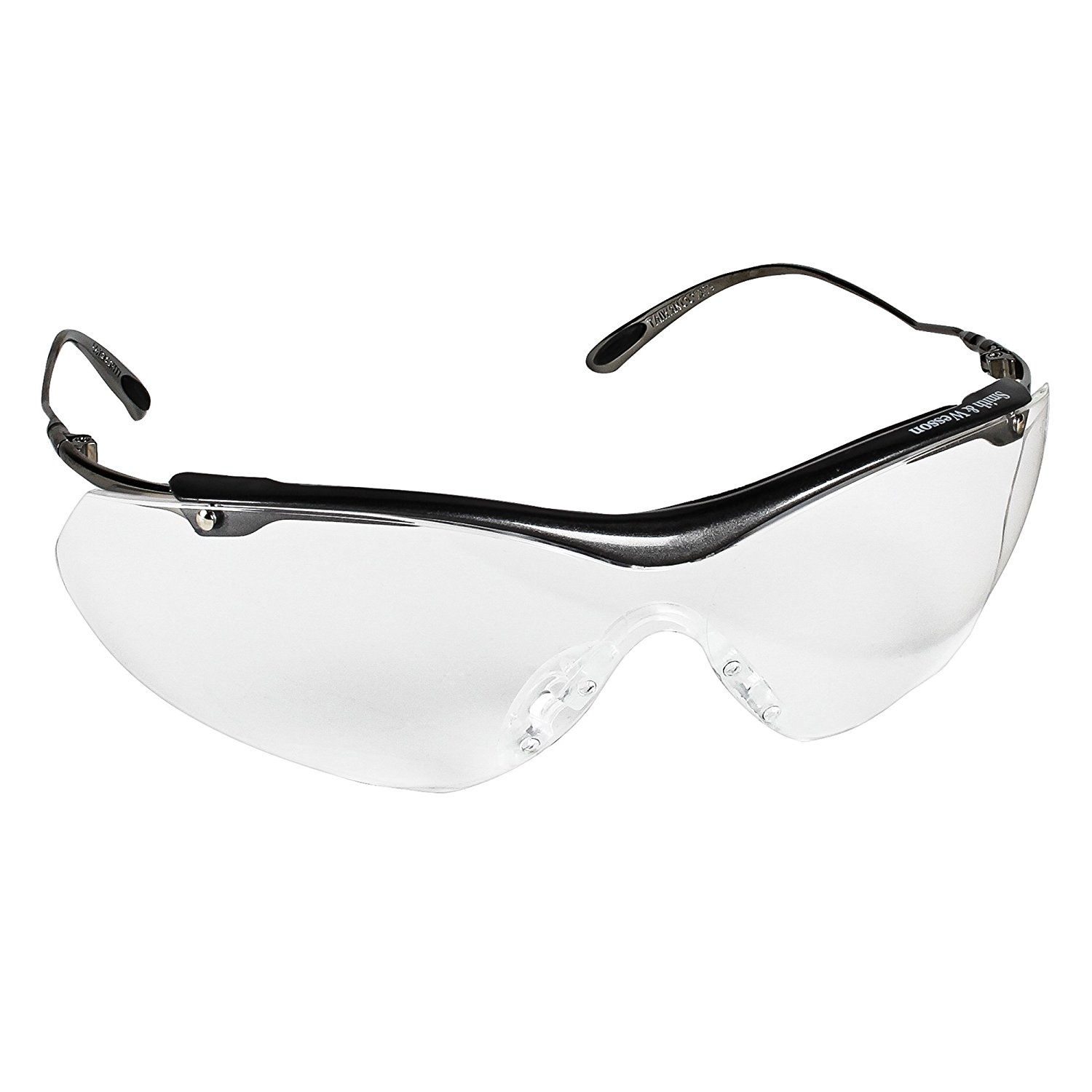Smith & Wesson Sigma Safety Glasses (20350), Clear Lenses, Gunmetal Grey Frame, 12 Pairs