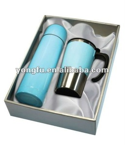 Vacuum Flask Gift Sets with one flask and one mug