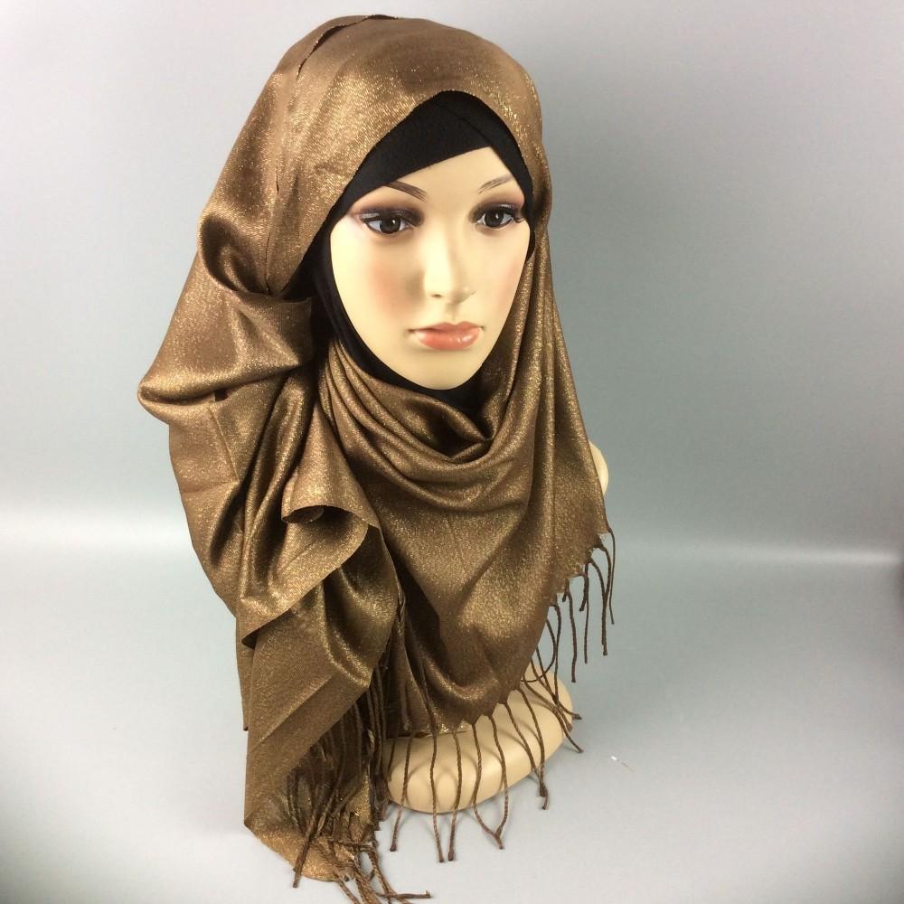 Mode conception Arabe femmes musulman hijab écharpe avec frange islamique  scintillant foulards musulman hijab