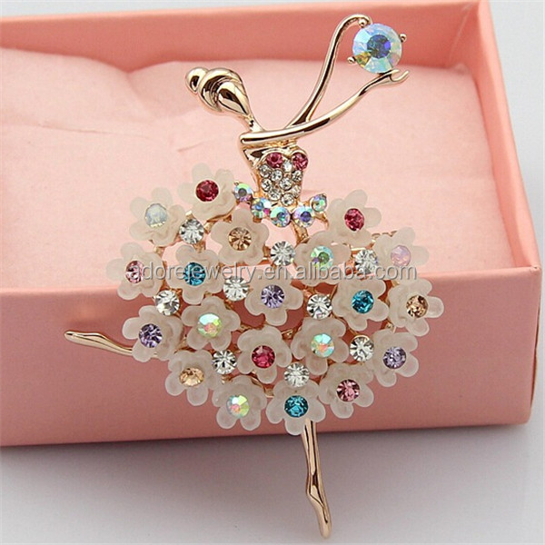 Fashionable Latest Design Zinc Alloy Brooch Korea,Flower Girl ...