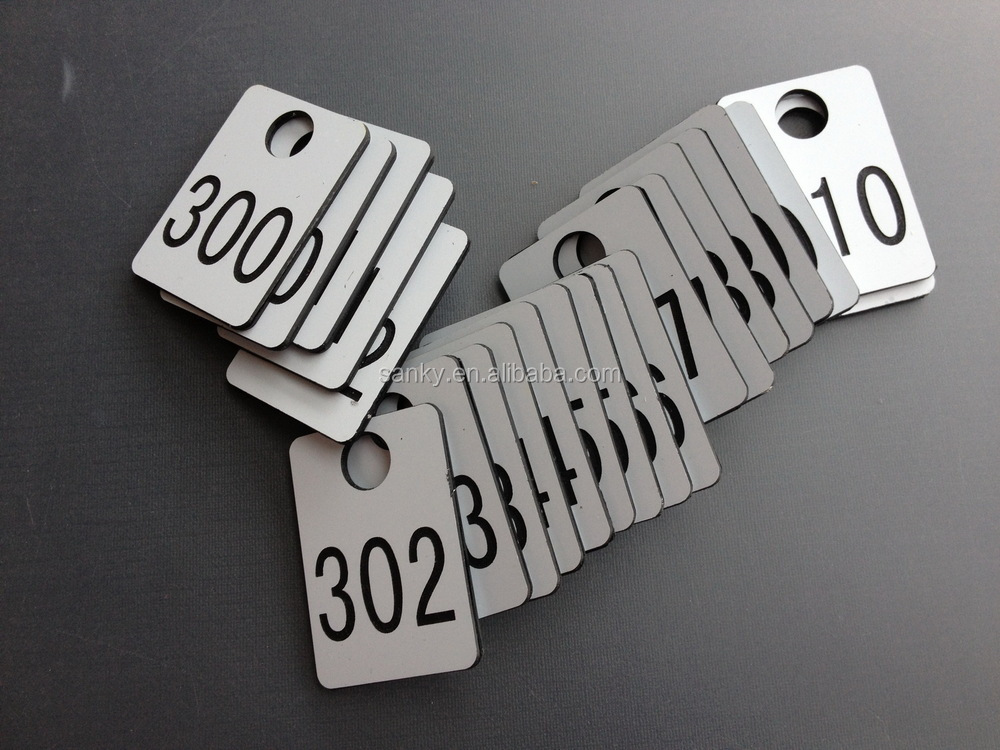 Plastic Abs Engraved Sauna Storage Cabinet Tags